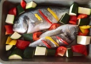 Zdrowy posiłek z białej rybki