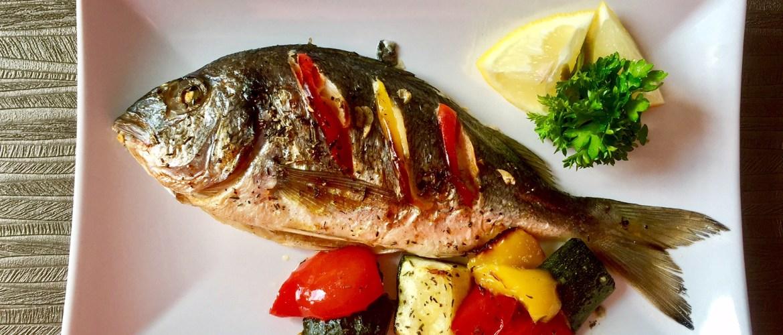 Szybki obiadek z rybą i warzywami