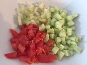 Warzywa krojone w kostkę
