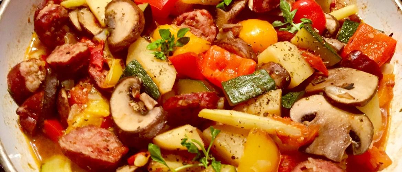 Danie jednogarnkowe z warzywami