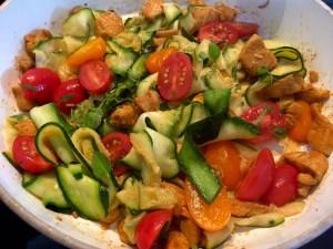 Warzywa do kurczaka z cukinią