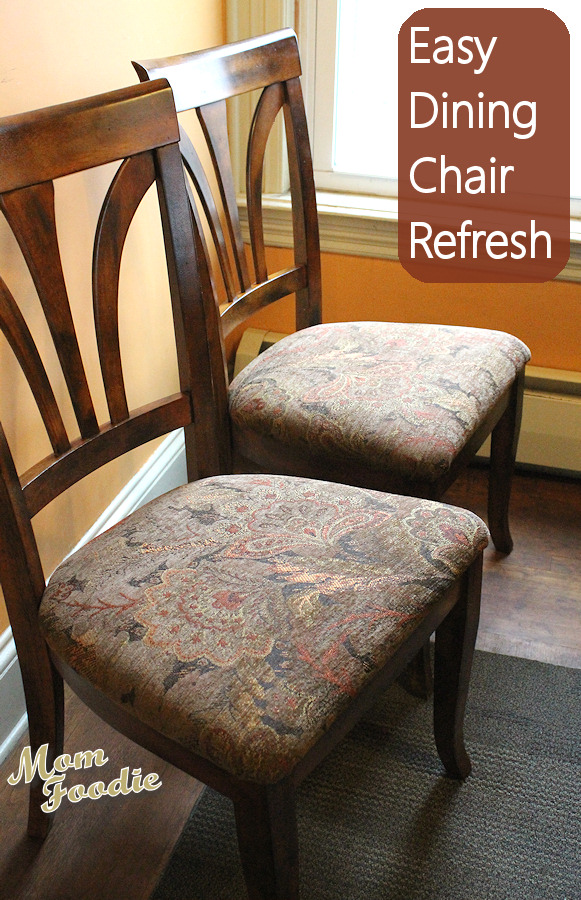 Reupholster Dining Chairs Easy DIY Project