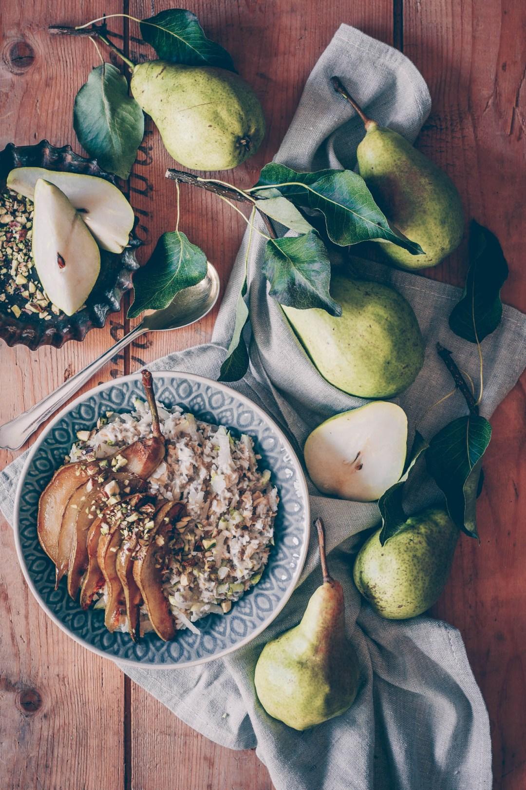 overnight oats med stekta päron