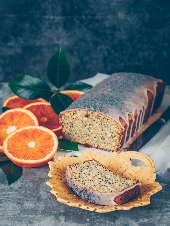 mjuk kaka med blodapelsin och vallmo glutenfri