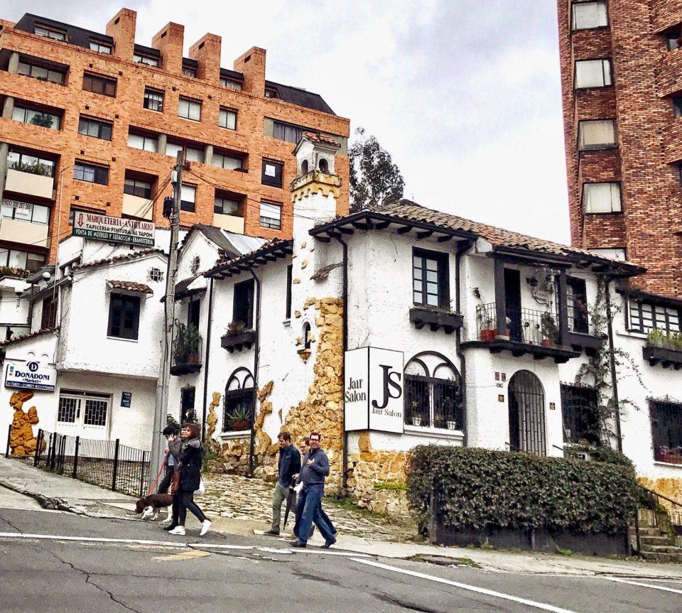 Street in Chapinero, Bogota,