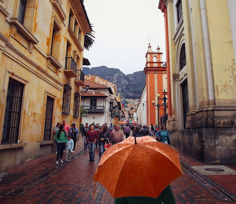 Picturesque street in La Candelaria, Bogota