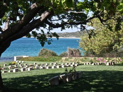 The beachside war cemetery of Ari Brunu on Sulva Bay contains the graves of 182 Australians, including 82 men from the Australian Light Horse regiments.