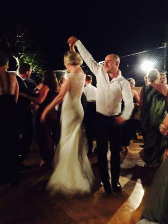 Stealing a dance with the bride.