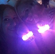 Officially welcomed into the cult of Tay-Tay with our flashing wristbands.