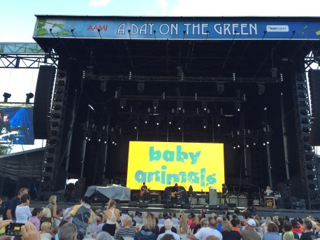 The Baby Animals were one of two support acts and Suze DeMarchi looked awesome for a 50-something rock star!