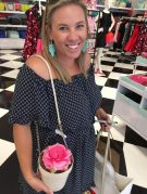 There are no shrinking violets in Kate Spade.