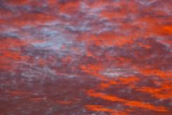 Clouds in, um, the sky