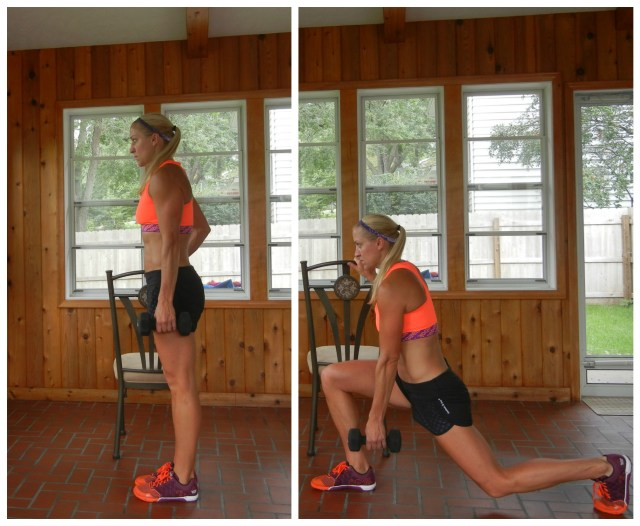 reverse lunge with chair
