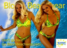 Hawaiian_green_print bikini separates