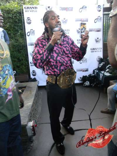 "Pastor Troy promoting his new film ""We Was Homeboyz"", in theaters soon."