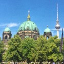 The Berlin Cathedral and TV Tower, side by side.
