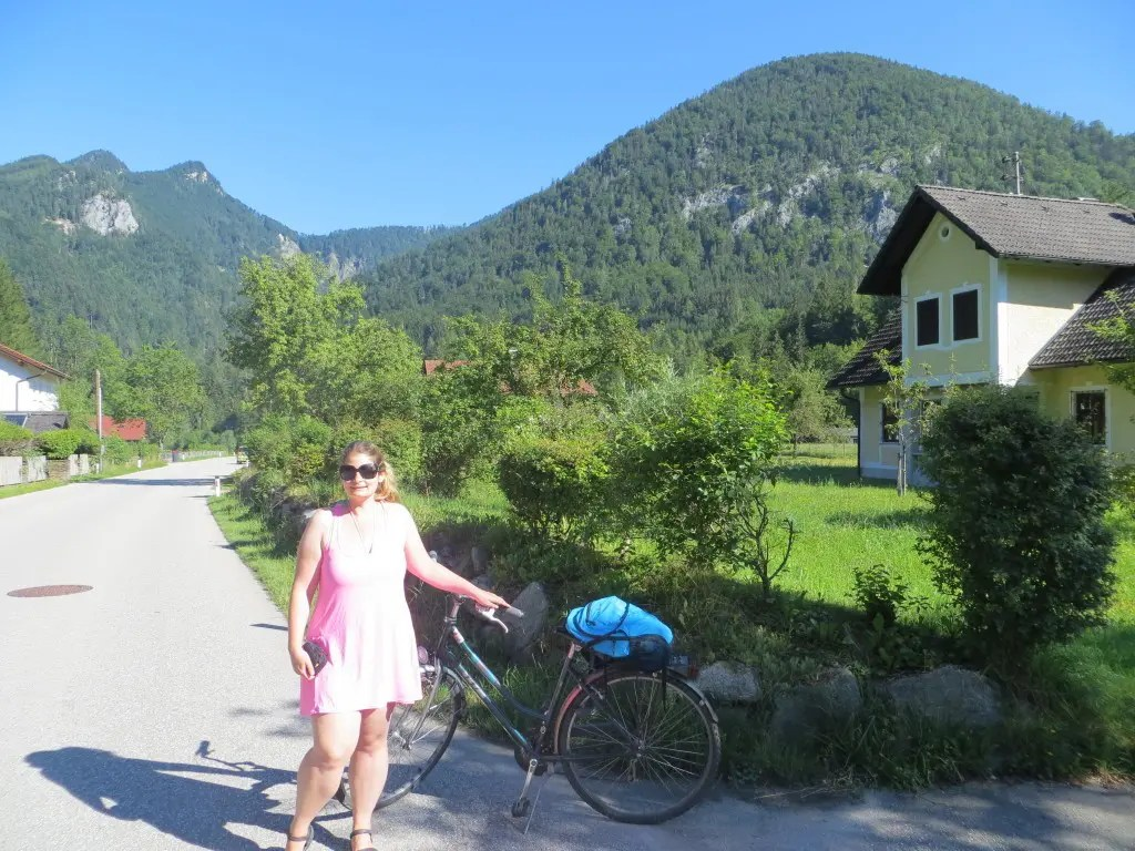 Me on a bike in rural Austria. If only I had the same work motivation to write!