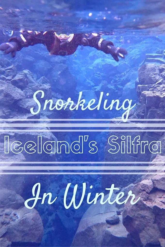 snorkeling in silfra in winter