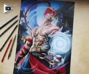 Lee Sin drawing by Blondynki Też Grają - League of Legends art