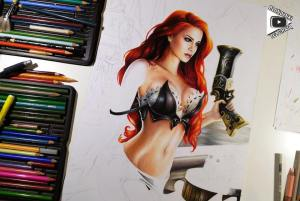 Miss Fortune drawing by Blondynki Też Grają - League of Legends art