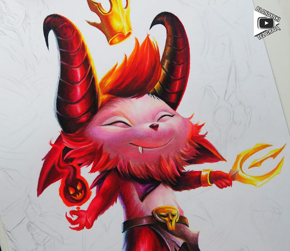 Teemo Satan drawing by Blondynki Też Grają - League of Legends art