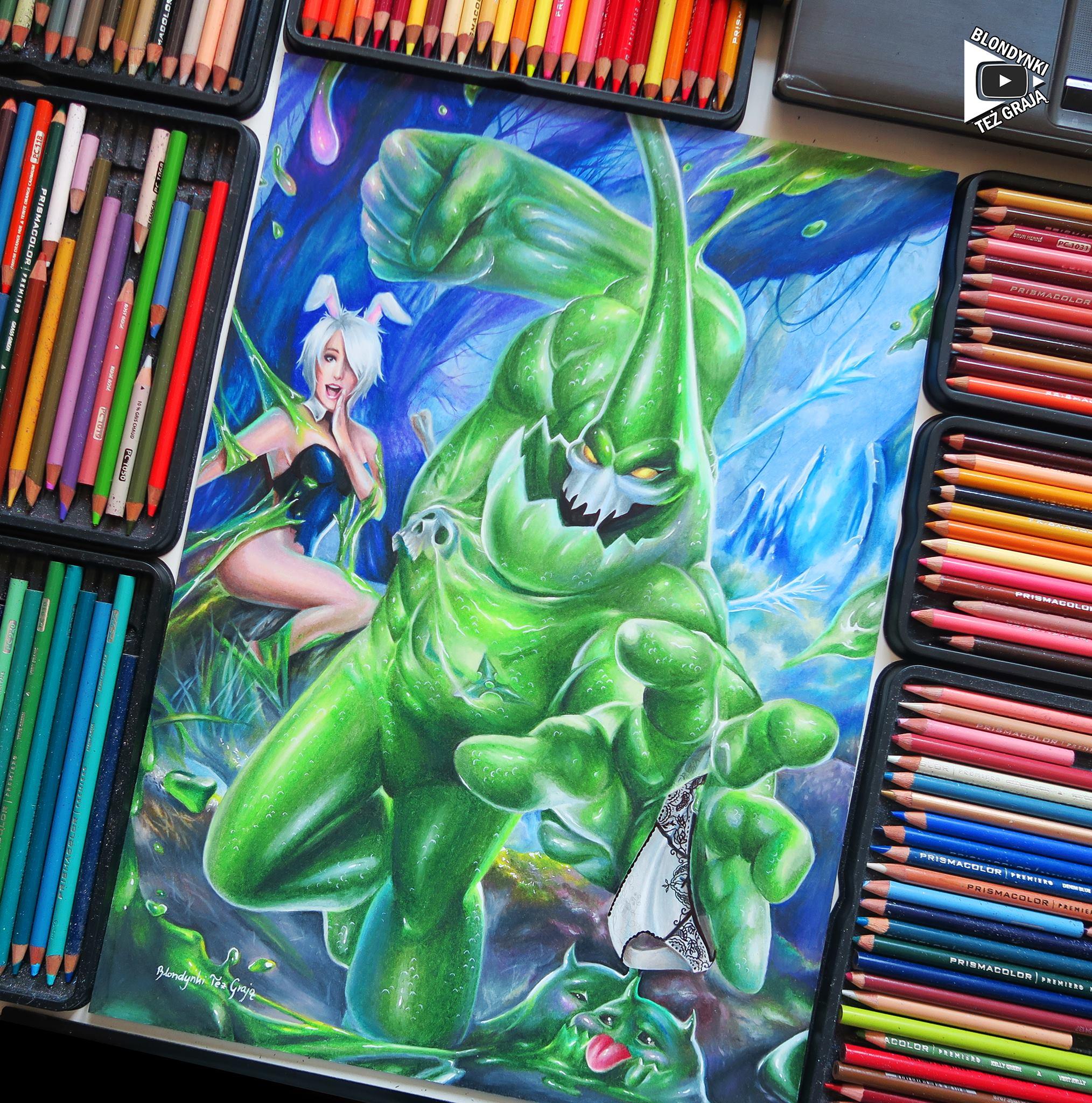 Zac drawing by Blondynki Też Grają - League of Legends art