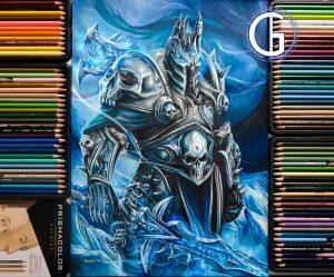 Lich King World of Warcraft drawing by Blondynki Też Grają