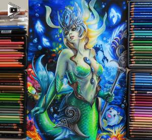 Nami drawing by Blondynki Też Grają - League of Legends
