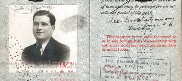 Jack Trauring US Passport 1938