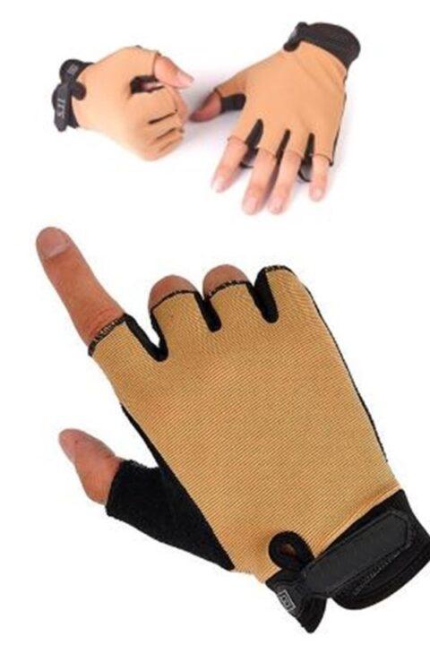 Handschoen zonder vingers - Khaki