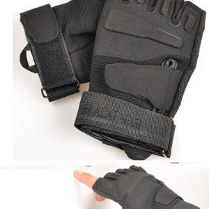 Tactical Gloves zonder vingers - Zwart