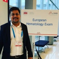 Dr Sujeet Kumar EHA Exam Amsterdam