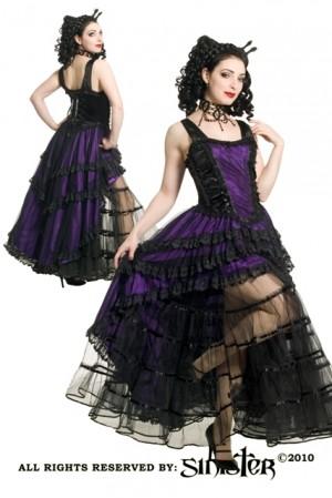 robe sinister burlesque victorienne violet noir