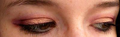 make up violet et orange