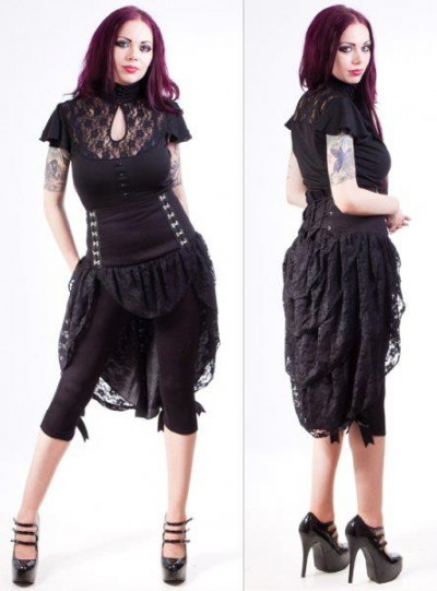 necessary evil bustle skirt+top