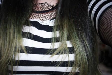 decoloration verte