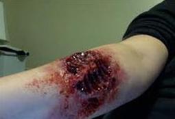 portrait of a zombie's bite