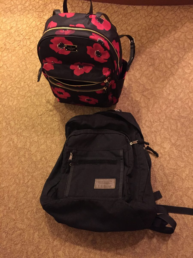 Barbara Custer's backpack