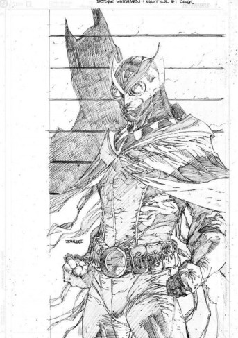 Jim Lee and Scott Williams' cover of Nite Owl #1
