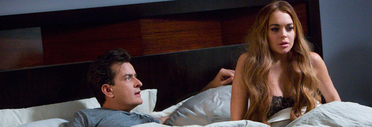 First Look Lindsay Lohan And Charlie Sheen Wake In Scary Movie 5 Fright Bloody Disgusting