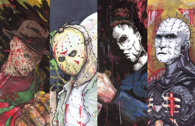 freddy_jason_michael_pinhead_by_covens_oz-d4ojycu
