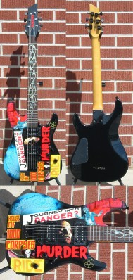 Schecter 2009 USA Custom Shop Sunset Classic House Of 1000 Corpses Graphic 6-String Electric Guitar