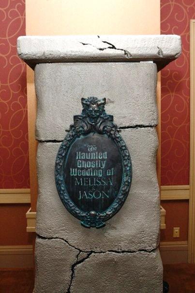 wedding plaque on wall