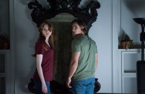 M121 Karen Gillian and Brenton Thwaites star in Relativity Media's OCULUS.  Photo Credit: John Estes ©2013 Lasser Productions, LLC. All Rights Reserved.