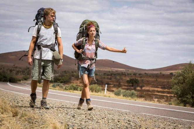 WolfCreek2_Phillipe Klaus as Rutger and Shannon Ashlyn as Katarina_hitch hiking