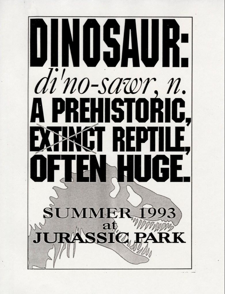 John Alvin – Jurassic Park poster – 4