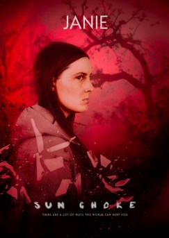 SUN CHOKE Character Poster - Janie, Bloody Disgusting Exclusive