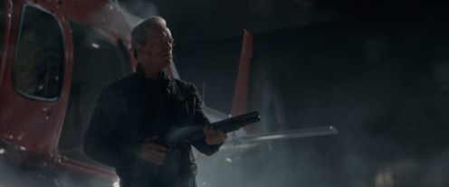 Arnold Schwarzenegger plays the Terminator in Terminator Genisys from Paramount Pictures and Skydance Productions