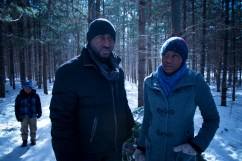 """(L-R): Orion John as Will, Adrian Holmes as Scott and Oluniké Adeliyi as Kim in the horror film """"A CHRISTMAS HORROR STORY"""" an RLJ Entertainment release. Photo credit: RLJ Entertainment."""