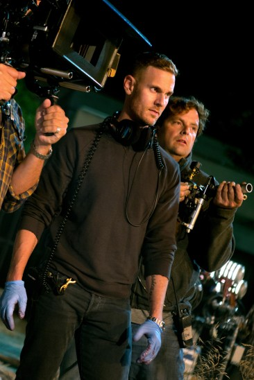 Director Christopher Landon on the set of SCOUTS GUIDE TO THE ZOMBIE APOCALYPSE from Paramount Pictures.
